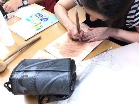 モデリング レザークラフト教室 革工芸教室