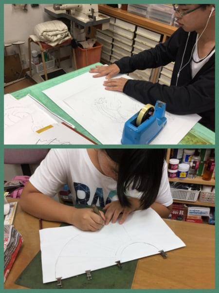 型紙・下絵制作 レザークラフト教室 革工芸教室