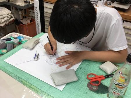 詳細図 レザークラフト教室 革工芸教室