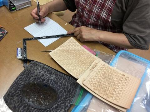iPhoneケース レザークラフト教室 革工芸教室