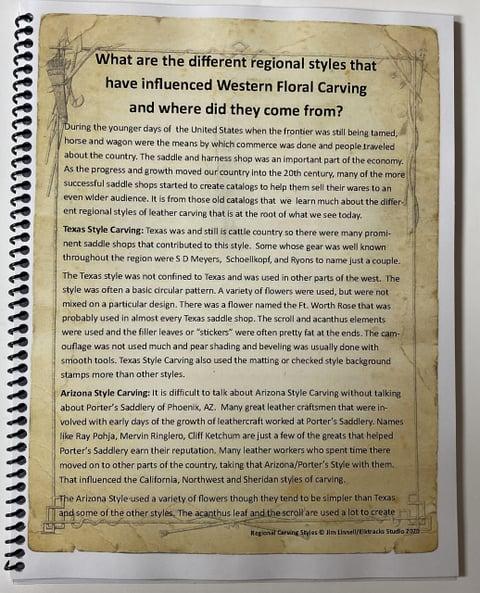 カービングスタイルの本説明文 レザークラフト教室 革工芸教室