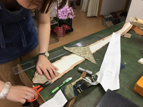 ネクタイ レザークラフト教室 革工芸教室