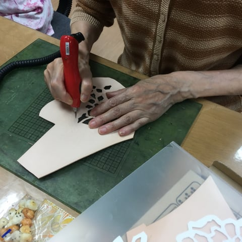 フィリグリー レザークラフト教室 革工芸教