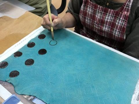 ろうけつ染基本 レザークラフト教室 革工芸教室