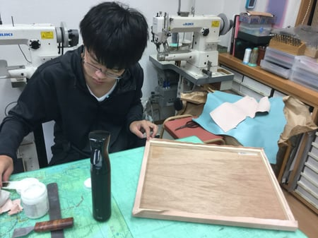 パネル張り レザークラフト教室 革工芸教室