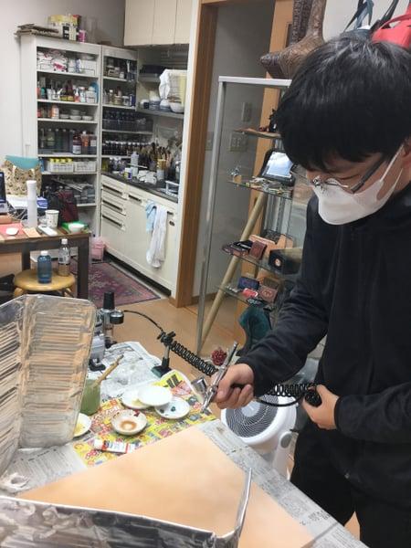 エアーブラシ レザークラフト教室 革工芸教室