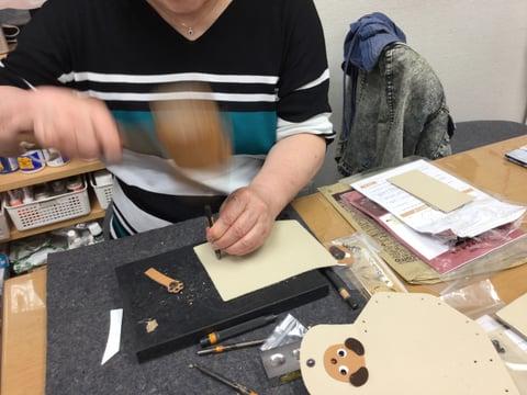 干支シリーズ レザークラフト教室 革工芸教室