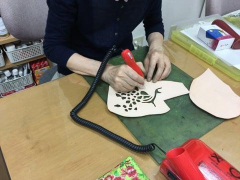 フィリグリー レザークラフト 教室 革工芸教室