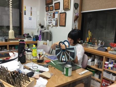 手直し レザークラフト教室 革工芸教室