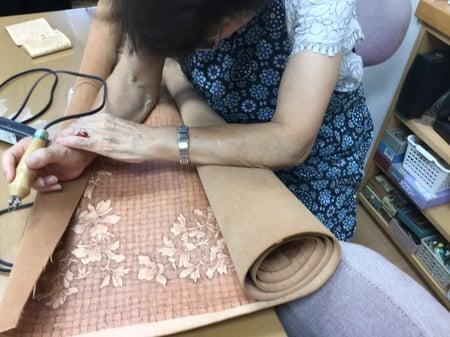 バーニング レザークラフト教室 革工芸教室