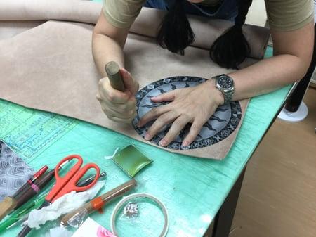 タペストリー レザークラフト教室 革工芸教室