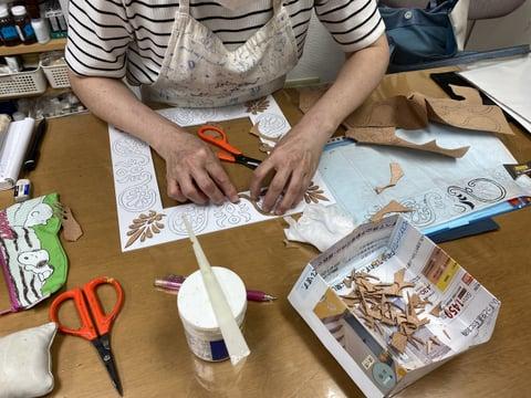 パッキング技法 レザークラフト教室 革工芸教室