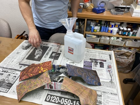 マーブリング レザークラフト教室 革工芸教室