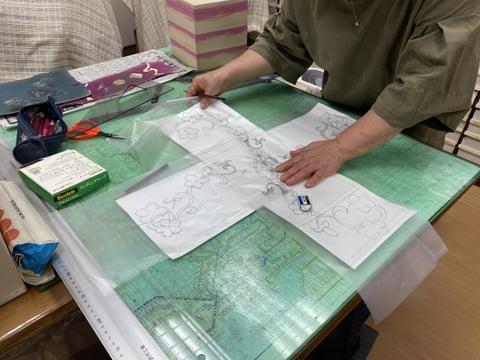 革の箱型紙 レザークラフト教室 革工芸教室