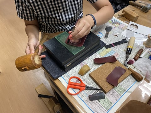 リメイクバッグ レザークラフト教室 革工芸教室