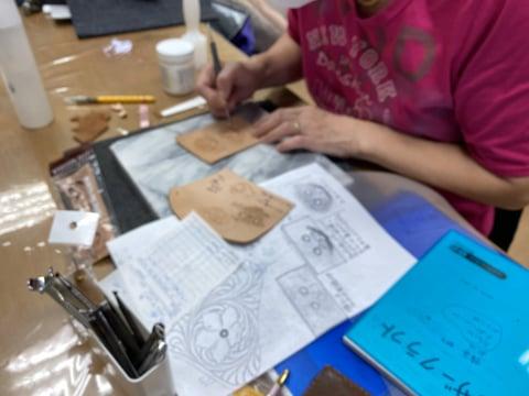 猫の眼鏡ボックス レザークラフト教室 革工芸教室