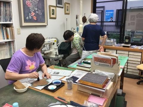 授業風景2 レザークラフト 教室 革工芸教室