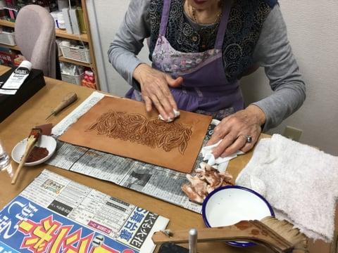 染色 レザーアート研究会 革工芸教室