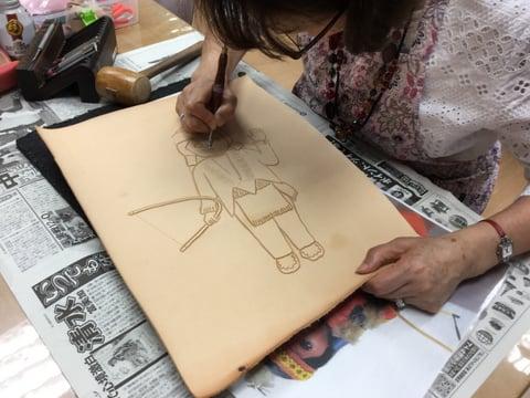 フィグアカービング レザーアート研究会 革工芸教室