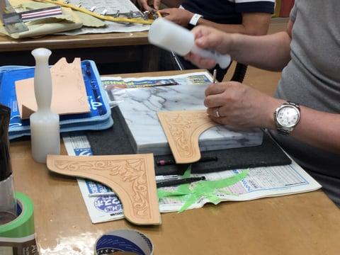 バッグカービング レザークラフト教室 革工芸教室