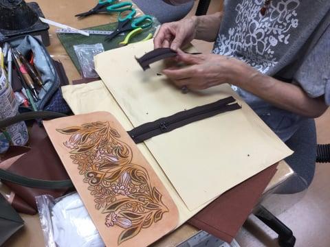 バッグ仕立て レザークラフ教室 革工芸教室