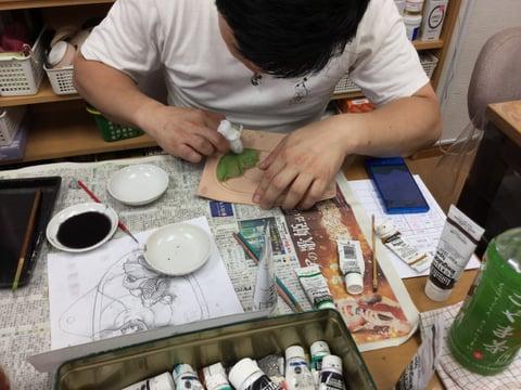 フィギュア着色 レザークラフ教室 革工芸教室