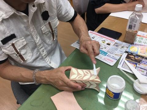 立体造形 れざークラフト教室 革工芸教室