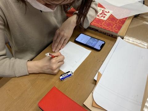 カービングのデザイン レザークラフト教室 革工芸教室