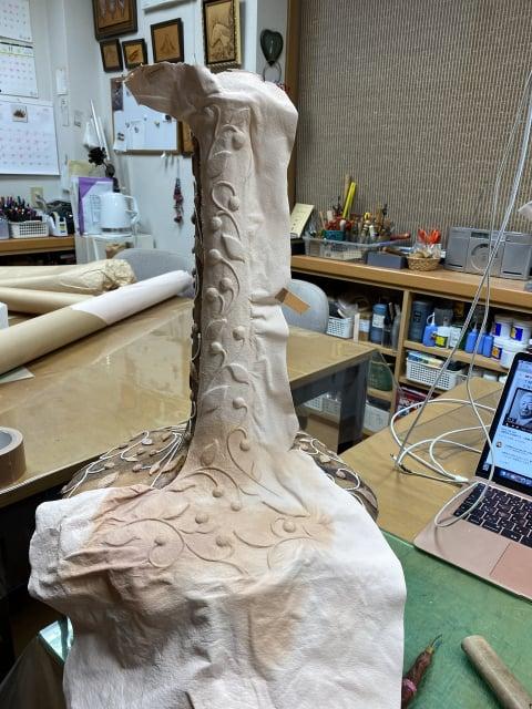 立体造形制作過程1 レザークラフト教室 革工芸教室