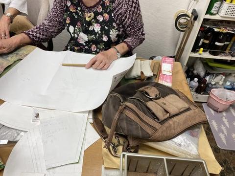 息子さんのバッグ レザークラフト教室 革工芸教室