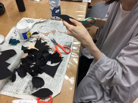 革の花 薔薇 レザークラフト教室 革工芸教室