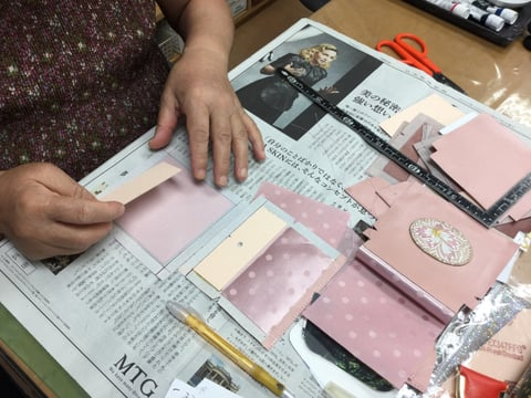 コインボックス仕立て レザークラフト教室 革工芸教室