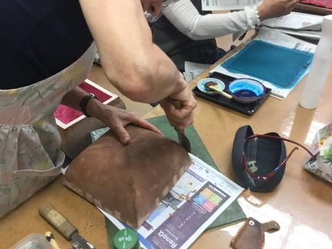 立体造形 レザークラフト教室