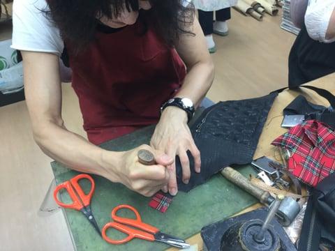 ウエストポーチ レザークラフト教室 革工芸教室