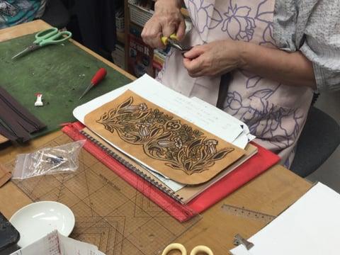 バッグ仕立て レザークラフ 教室 革工芸教室
