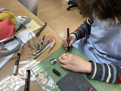 革・干支のストラップ レザークラフト教室 革工芸教室