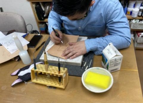 フギュアカービング レザークラフト教室 革工芸教室