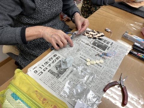 ろうけつ染め作品 レザークラフト教室 革工芸教室