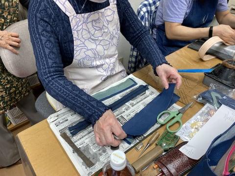 バッグ仕立 レザークラフト教室 革工芸教室