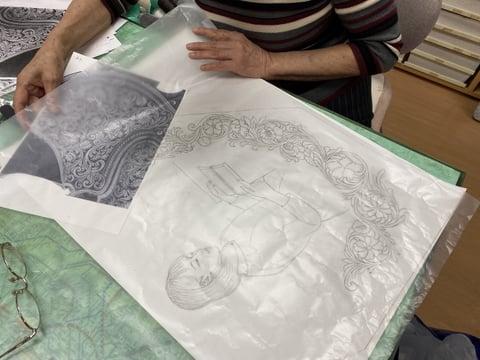革・図案描き レザークラフト教室