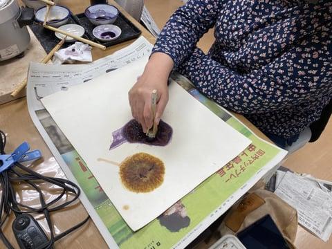 革のろうけつ染め蝋かすり レザークラフト教室