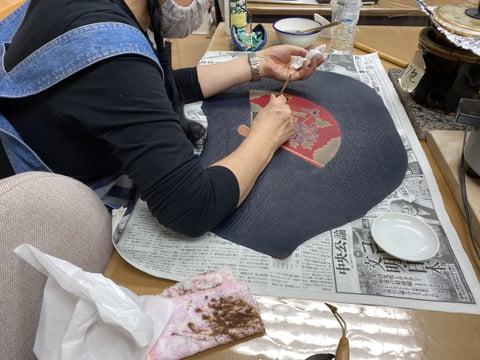 革のろうけつ染め レザークラフト教室 革工芸教室