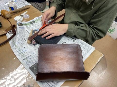 バッグ レザークラフト教室 革工芸教室
