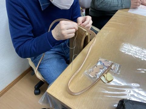 リード手縫い レザークラフ 教室 革工芸教室