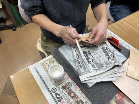 ウォレットパーツ作り レザークラフ 教室 革工芸教室