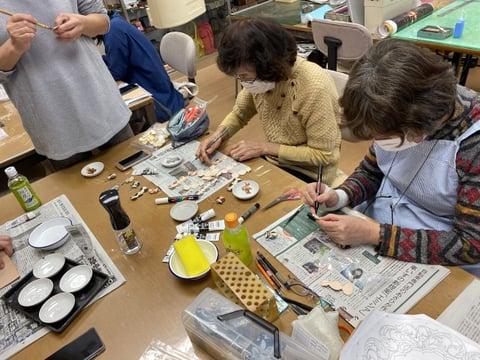 干支のキーホルダー作り レザークラフト教室 革工芸教室
