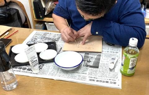 フィギュアカービング着色 レザークラフト教室 革工芸教室