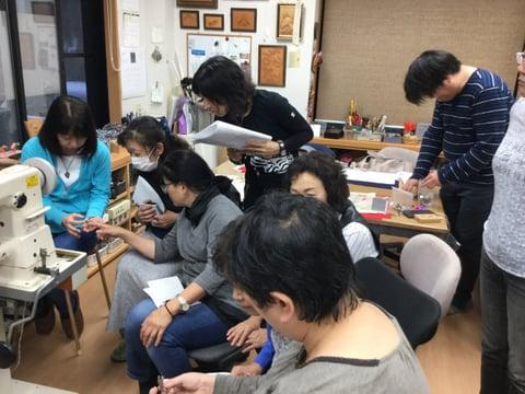 ミシン講習会 レザークラフト教室 革工芸教室