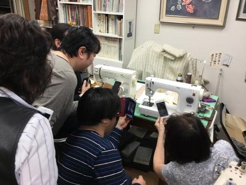 ミシン講習会説明中4 レザークラフト教室 革工芸教室
