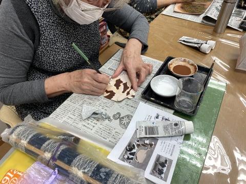 革の干支づくり レザークラフト教室 革工芸教室